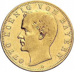 Large Obverse for 10 Mark 1900 coin