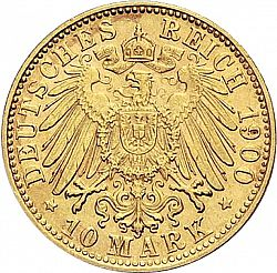 Large Reverse for 10 Mark 1900 coin