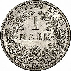 Large Obverse for 1 Mark 1873 coin