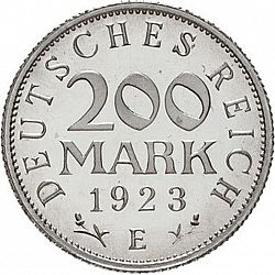 Large Obverse for 200 Mark 1923 coin
