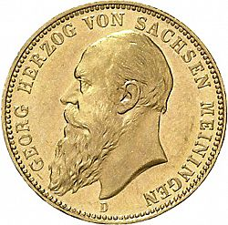 Large Obverse for 20 Mark 1900 coin