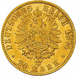 Large Reverse for 20 Mark 1874 coin