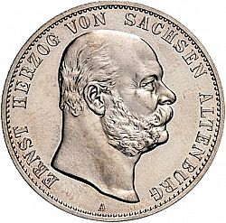 Large Obverse for 2 Mark 1901 coin