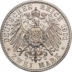 Large Reverse for 2 Mark 1901 coin