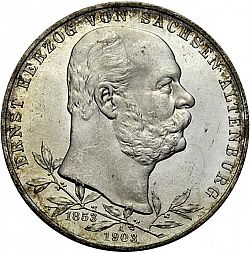 Large Obverse for 5 Mark 1903 coin