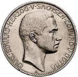 Large Obverse for 5 Mark 1907 coin