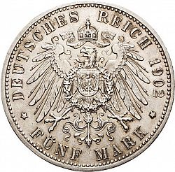 Large Reverse for 5 Mark 1902 coin