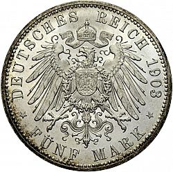 Large Reverse for 5 Mark 1903 coin