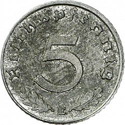 Large Obverse for 5 Reichspfennig 1948 coin