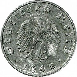 Large Reverse for 5 Reichspfennig 1948 coin