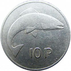 Large Reverse for 10P - Ten Pence 1975 coin