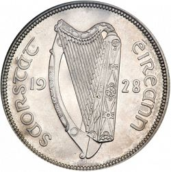 Large Obverse for 2s6d - Half Crown 1928 coin