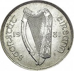 Large Obverse for 2s6d - Half Crown 1931 coin