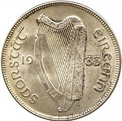 Large Obverse for 2s6d - Half Crown 1933 coin