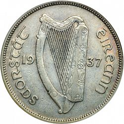 Large Obverse for 2s6d - Half Crown 1937 coin
