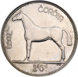 Large Reverse for 2s6d - Half Crown 1928 coin