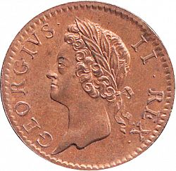 Large Obverse for Halfpenny 1753 coin