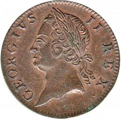 Large Obverse for Halfpenny 1760 coin