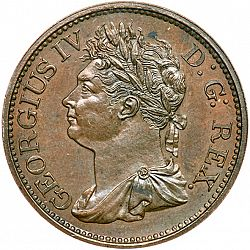 Large Obverse for Halfpenny 1822 coin