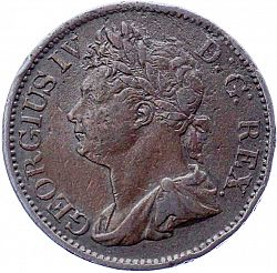 Large Obverse for Halfpenny 1823 coin