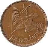 Large Reverse for 1/4d - Farthing 1930 coin