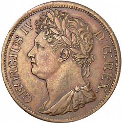 Large Obverse for Penny 1822 coin