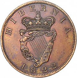 Large Reverse for Penny 1822 coin