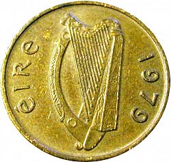 1P - Penny from 1979 - IRELAND 1971-01 - Eire - Decimal Coinage