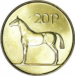 Large Reverse for 20P - Twenty Pence 1998 coin