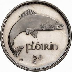 Large Reverse for 2s - Florin 1954 coin