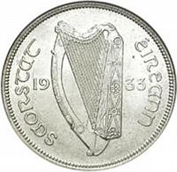 Large Obverse for 2s - Florin 1933 coin
