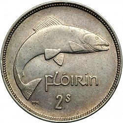 Large Reverse for 2s - Florin 1937 coin