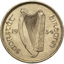 Large Obverse for 6d - 6 Pence 1934 coin