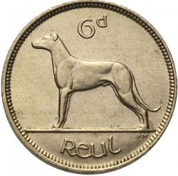Large Reverse for 6d - 6 Pence 1934 coin