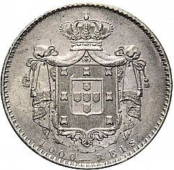Large Reverse for 1000 Réis ( 10 Tostôes ) 1837 coin