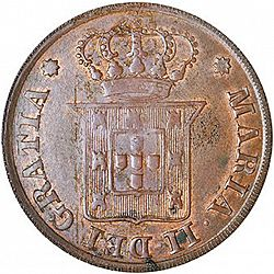Large Obverse for 10 Réis 1833 coin