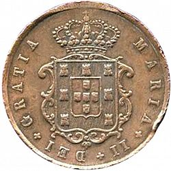 Large Obverse for 10 Réis 1852 coin