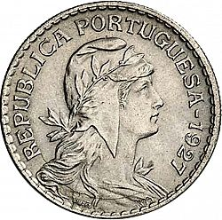 Large Obverse for 1 Escudo 1927 coin