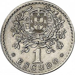 Large Reverse for 1 Escudo 1927 coin