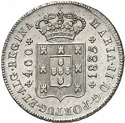 Large Obverse for 480 Réis ( Cruzado Novo ) 1835 coin