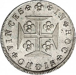 Large Reverse for 480 Réis ( Cruzado Novo ) 1835 coin