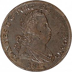 Large Obverse for 40 Réis ( Pataco ) 1811 coin