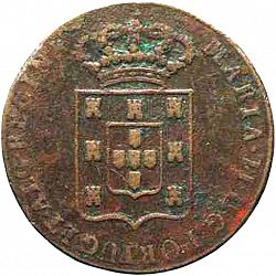 Large Obverse for 40 Réis ( Pataco ) 1833 coin