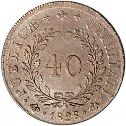 Large Reverse for 40 Réis 1828 coin