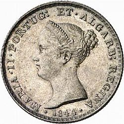 Large Obverse for 500 Réis ( 5 Tostôes ) 1844 coin