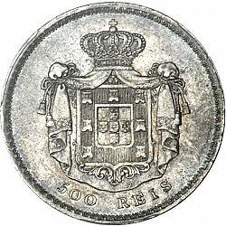 Large Reverse for 500 Réis ( 5 Tostôes ) 1839 coin