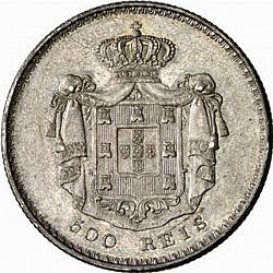Large Reverse for 500 Réis ( 5 Tostôes ) 1844 coin