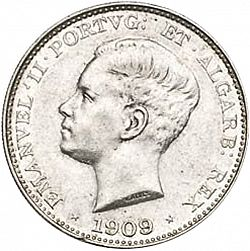 Large Obverse for 500 Réis 1909 coin
