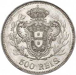 Large Reverse for 500 Réis 1909 coin