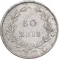 Large Reverse for 50 Réis ( Meio Tostâo ) 1861 coin